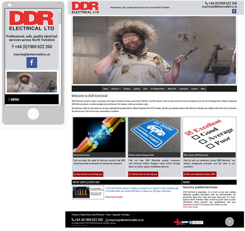 Screenshot of DDR Electrical Ltd - DDR Electrical Ltd website
