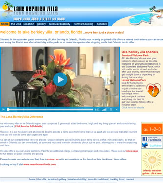 Screenshot of Lake Berkley Florida Villa - Lake Berkley Florida Villa website