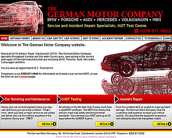 Screenshot of The German Motor Company - The German Motor Company website
