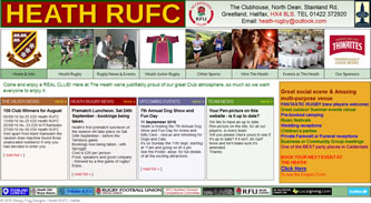 Screenshot of Heath RUFC - Heath RUFC website