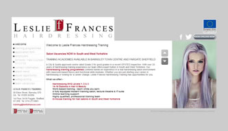 Screenshot of Leslie Frances Hairdressing Training - Leslie Frances Hairdressing Training website