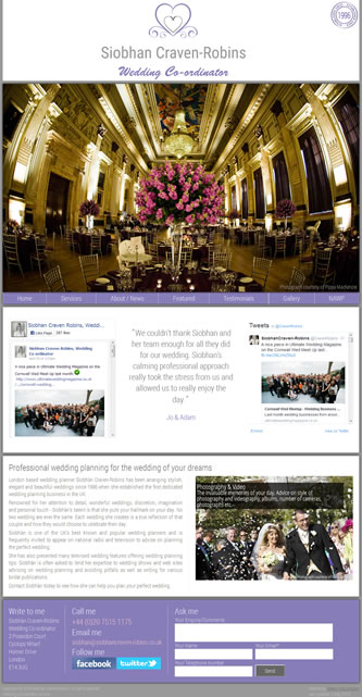 Screenshot of Wedding Planner London - Wedding Planner London website